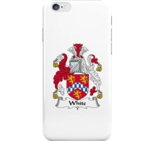 White Family Crest Heraldic Shield iPhone Case/Skin