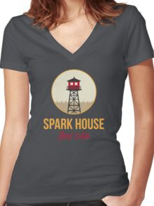 Spark House Red Ale Women's Fitted V-Neck T-Shirt