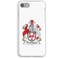 Thompson Family Crest Heraldic Shield iPhone Case/Skin