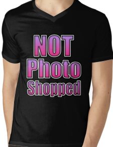 Not Photo Shopped Mens V-Neck T-Shirt