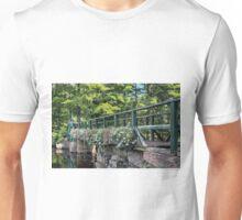 Petunias - Footbridge Crossing Stevens Brook Unisex T-Shirt