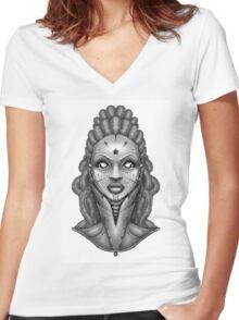 Orbital Women's Fitted V-Neck T-Shirt