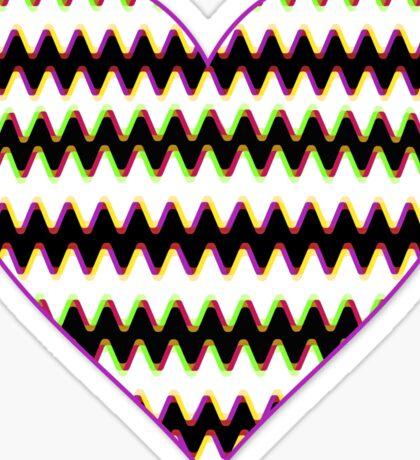 Love Cardiogram Sticker