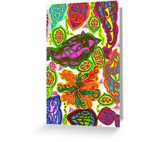 Colour of Aubergine pattern design Greeting Card