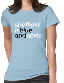 Sheffield is Blue Womens Fitted T-Shirt