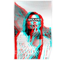 Halsey blue & red 3D Badlands Poster