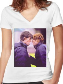 Matt Smith and Karen Gillan Women's Fitted V-Neck T-Shirt