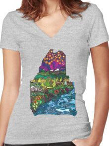 Big Beautiful Maine Women's Fitted V-Neck T-Shirt
