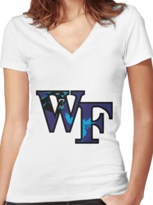Wake Forest Panthers Hornets Women's Fitted V-Neck T-Shirt
