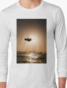 Kitesurfing at sunset Long Sleeve T-Shirt