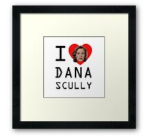 I Heart Dana Scully Framed Print