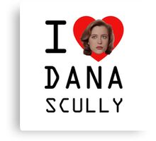 I Heart Dana Scully Canvas Print