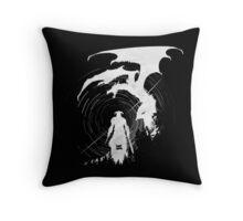 Dragon Fighter Throw Pillow