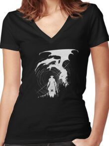 Dragon Fighter Women's Fitted V-Neck T-Shirt