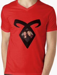 Shadowhunters - Malec - Angelic Rune Mens V-Neck T-Shirt