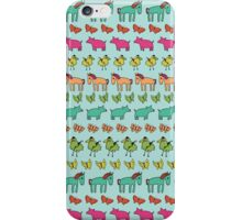 Striped Pigs and Ponies - Peach Melba iPhone Case/Skin