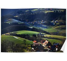 Tiny Villages in the Black Forest Poster