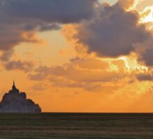 Mont St Michel Sunset Sticker