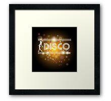 Disco music design Framed Print
