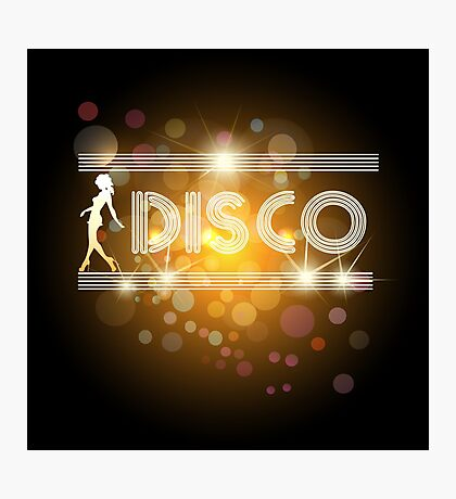 Disco music design Photographic Print