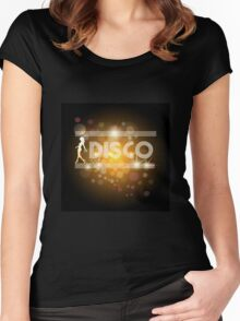 Disco music design Women's Fitted Scoop T-Shirt