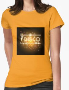Disco music design Womens Fitted T-Shirt