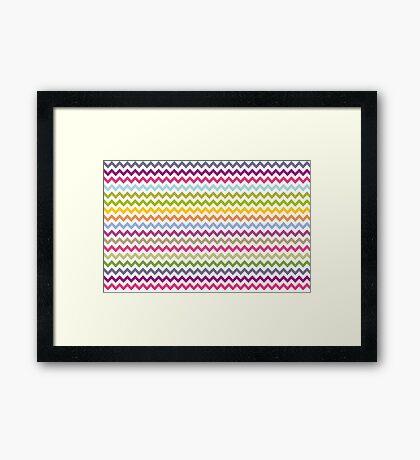 Multi-colored zig zag Framed Print