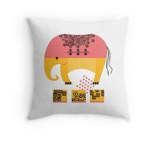 Ella the Elephant Throw Pillow