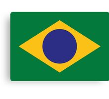 National flag of Brazil Canvas Print