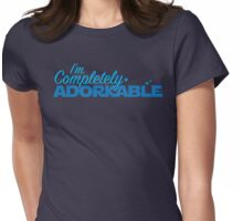 I'm completely ADORKABLE (adorable fangirl geek nerd) Womens Fitted T-Shirt