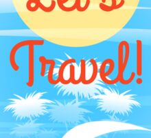 Travel theme Sticker