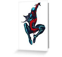 2099 Spidey Design Greeting Card