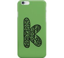 zentangle k: black/white iPhone Case/Skin