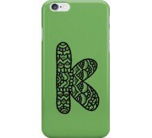 zentangle k: black/white iPhone Case/Skin