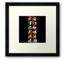 Super Smash Bros. - The Original 12 Framed Print