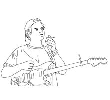 Mac Demarco Line Drawing Photographic Print
