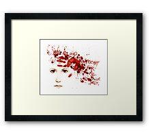 His Blood Framed Print
