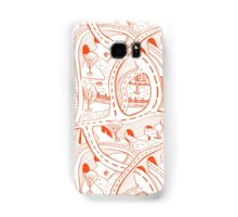 Seamless hand drawing pattern of city Samsung Galaxy Case/Skin