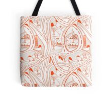 Seamless hand drawing pattern of city Tote Bag