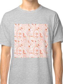 Seamless hand drawing pattern of city Classic T-Shirt