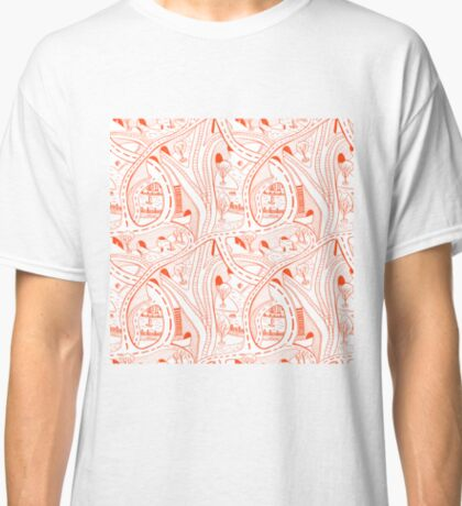 Seamless hand drawing pattern of city Classic T-Shirt