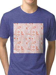 Seamless hand drawing pattern of city Tri-blend T-Shirt