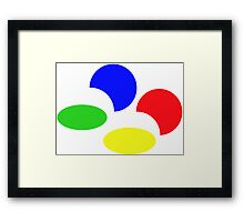 Super Nintendo SNES four colors quadcolor Framed Print