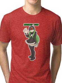 Xbone-tan, the Awkward Console Tri-blend T-Shirt