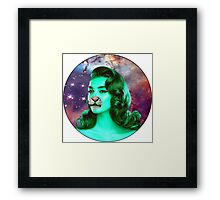 Psychedelic Tiger Pin Up Framed Print