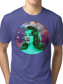 Psychedelic Tiger Pin Up Tri-blend T-Shirt