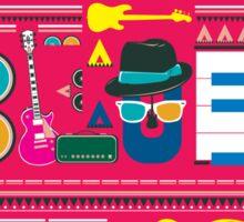 i love blues music Sticker