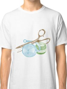 antique typographic vintage sewing kit Classic T-Shirt