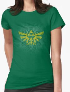 Hyrule Emblem Yellow Womens Fitted T-Shirt