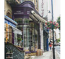 Wine Merchants & Flowery Vines Photographic Print